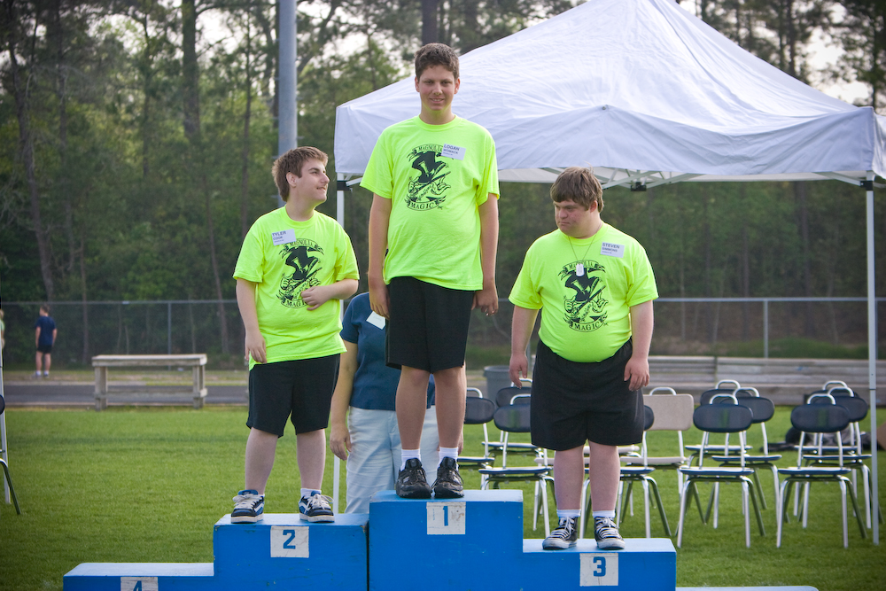 Receiving Javelin Medals